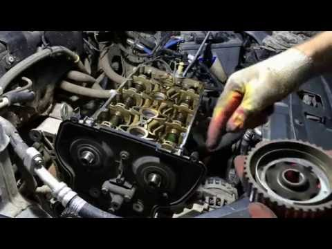 Фото к видео: Обрыв ремня ГРМ на приоре 21126 ремонт головки.