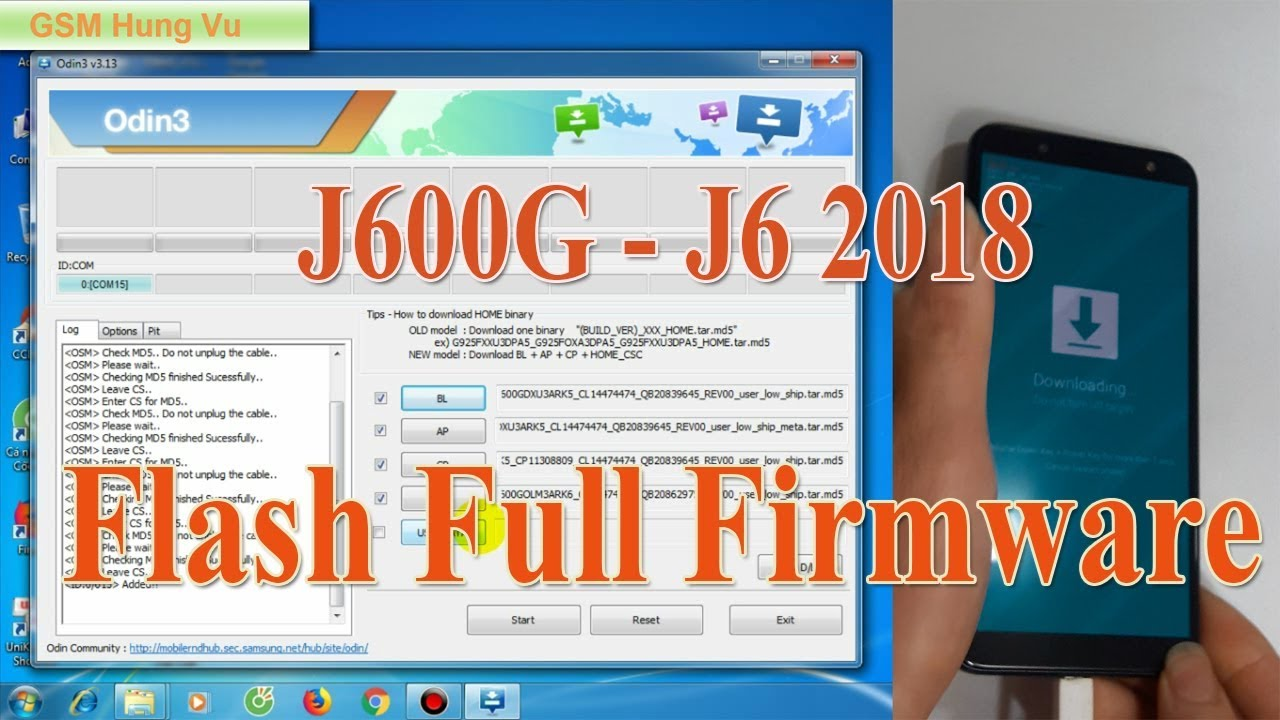 Flash Full Firmware J600G - Samsung J6 2018 8 0 By Odin 3 13 1