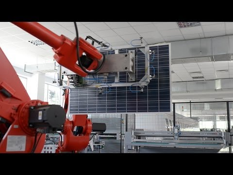 Automatic trimming and framing of pv modules by Ecoprogetti