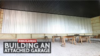 How to Build a Garage Addition 27: Installing Galvanized Wall Steel