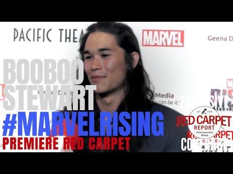 Booboo Stewart #Exile interviewed at the #MarvelRising: Secret Warriors Premiere