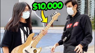 Giving $10,000 Worth Of Bass Guitars To Strangers  🎸(Giveaway)