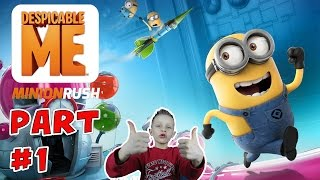 First time reactions to Despicable Me: Minion Rush | KID GAMING Mobile Android iOS