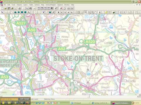 MapInfo connecting to BGS Web Map Service for onshore geology maps 1:50 000 scale  tutorial