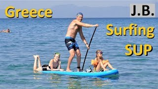 Cheapest SUP Gladiator 10' 330€, 26PSI, Greece Chalkidiki, July 2018