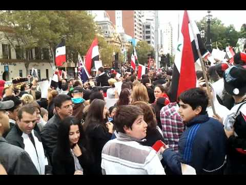 Rally / Support for Syrian Government Bashar Al Assad in Melbourne CBD
