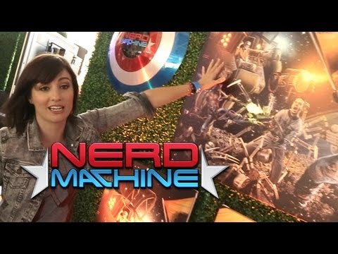 Alison's sneak peek at Nerds Versus Aliens the epic Nerd HQ mural - Nerd HQ (2013) - Alison Haislip