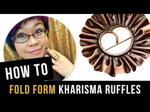 How to Fold Form Copper Ruffles - Kharisma Ruffles
