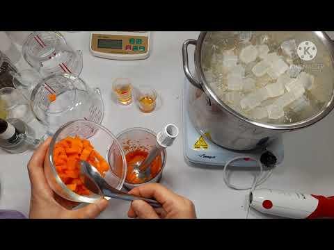 วิธีทำสบู่แครอท น้ำผึ้ง( สบู่กลีเซอรีน) สูตร ผิวใสลดฝ้ากระจุดด่างดำ