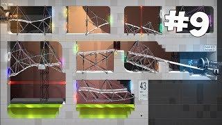 САМЫЙ КРАСИВЫЙ УРОВЕНЬ! ПОРТАЛЫ ВСЕХ ЦВЕТОВ ► Bridge Constructor Portal ► Прохождение на русском #9