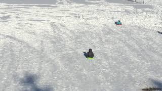K'ydn very 1st time sledding