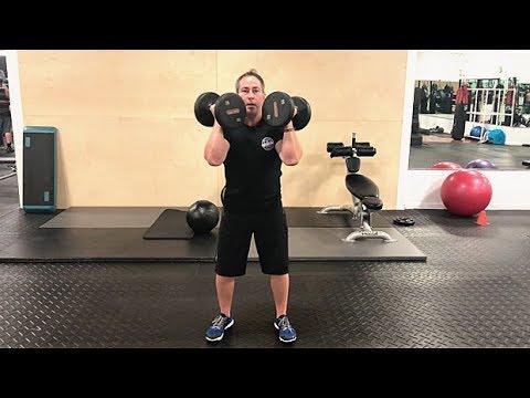 Dumbbell Rotational Shoulder Press
