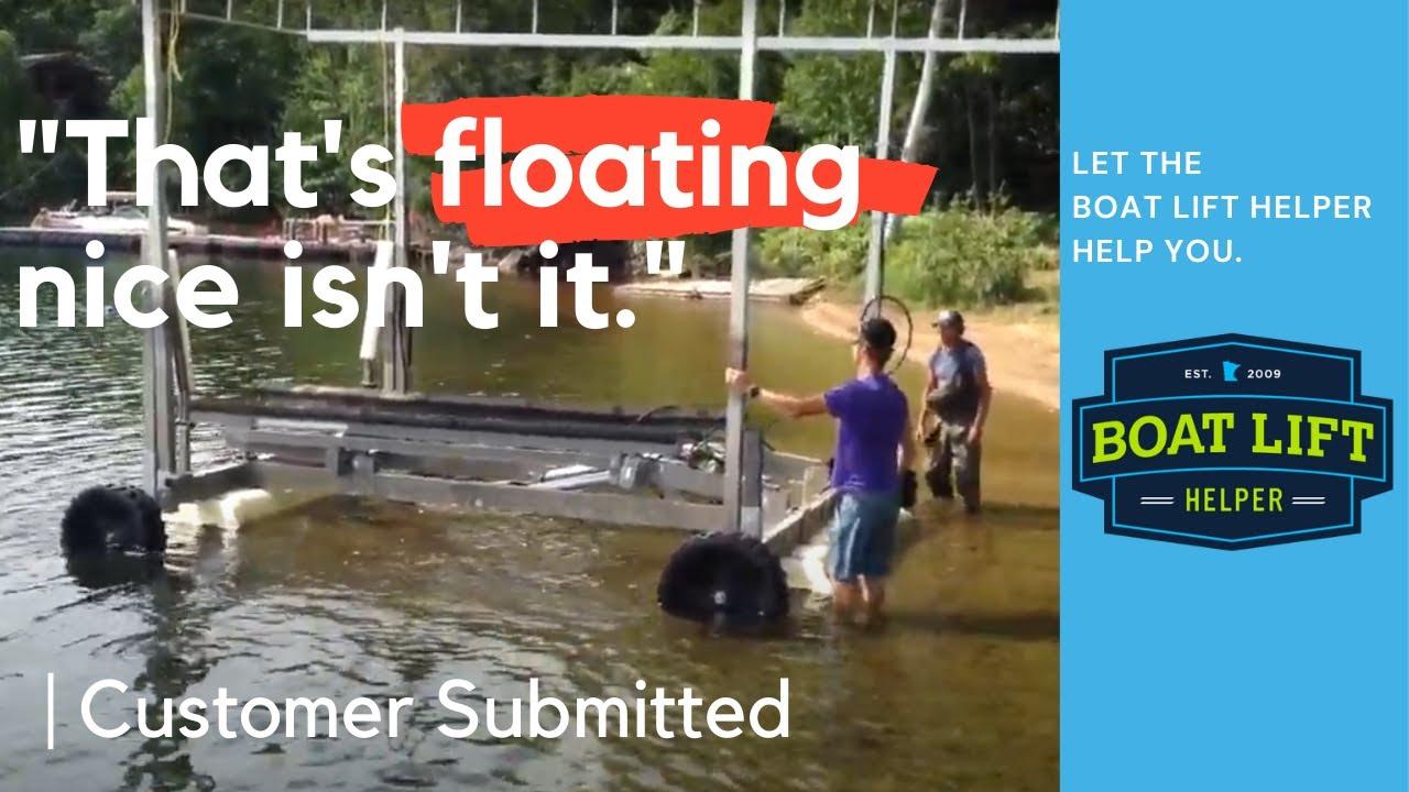 Boat Lift Helper  Don't lift it, float it! — Boat Lift