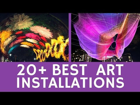 Best ART INSTALLATIONS: 20+ optical illusions & modern art-projects