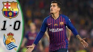 Fc Barcelona vs Real Sociedad 1-0 | Goals & Extended Highlights | Iniesta Last Game | May 2018 HD !