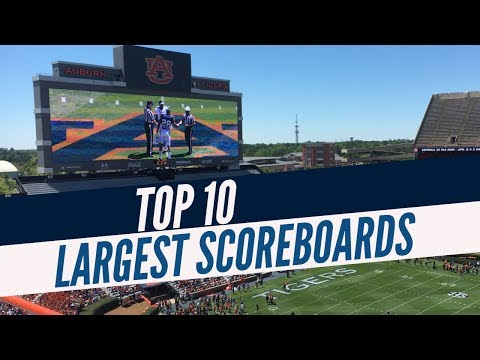 Top 10 Largest Scoreboards In College Football