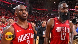 James Harden and Chris Paul reportedly had a heated argument after Game 6 vs. Warriors | High Noon