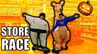 RIDING ELECTRIC LONGBOARDS IN STORES**HALLOWEEN COSTUMES**