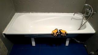 Наращивание ванны полкой из плитки Качественная установка ванны Ремонт ванной комнаты Часть 7