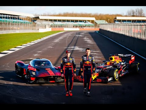 F1 2020 – Verstappen and Albon on track with the Aston Martin Valkyrie at Silverstone