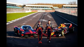 F1 2020 - Verstappen and Albon on track with the Aston Martin Valkyrie at Silverstone