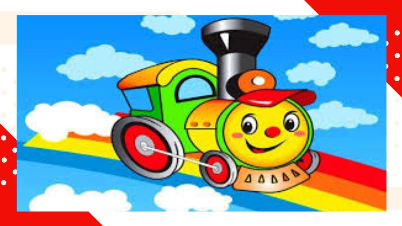 Learning english with train/for kids/Train cartoon/count for preschollers
