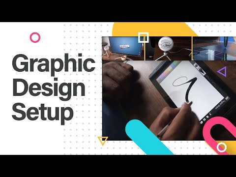 Graphic Design Setup, studio tour