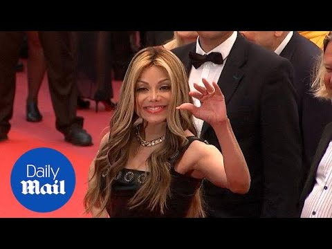 LaToya Jackson looks glamorous in black gown on Cannes red carpet - Daily Mail