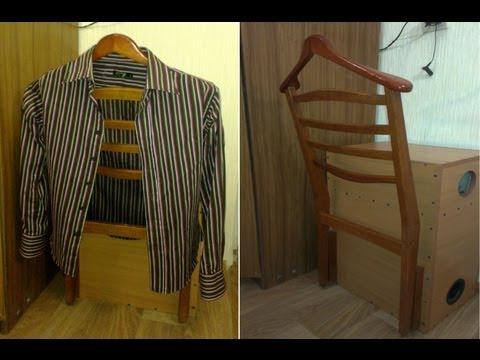Вешалка для одежды из старого стула своими руками