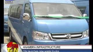 Anambra Infrastructure:Obi launches new waste trucks