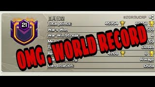 NEW WORLD'S RECORD- CLASH OF CLANS - HIGHEST LEVEL CLAN