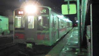 【701系】JR奥羽本線 前山駅に普通列車到着