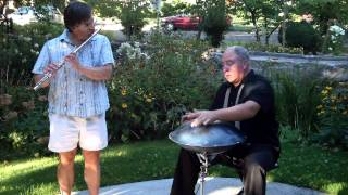 Blue Veil- Martin Johncox on Hang Drum & Greg Bishop on Flute.wmv