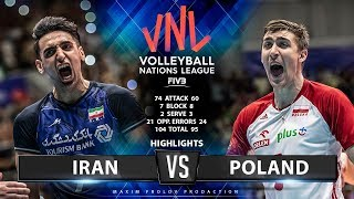 Iran vs Poland | Highlights Men's VNL 2019