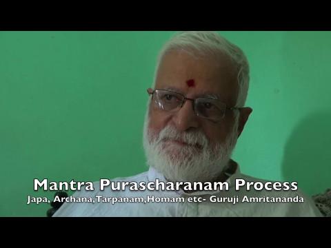 Guruji Amritananda explains Mantra siddhi and Purascharanam
