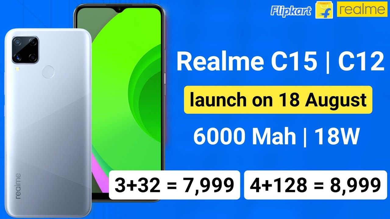Realme C12 and C15 india launch on 18 August, full features and price details