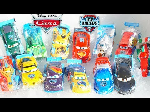 Disney Pixar Cars ICE RACERS Get Stuck in the Snow! Frosty Vitaly Help! Full Collection Toys