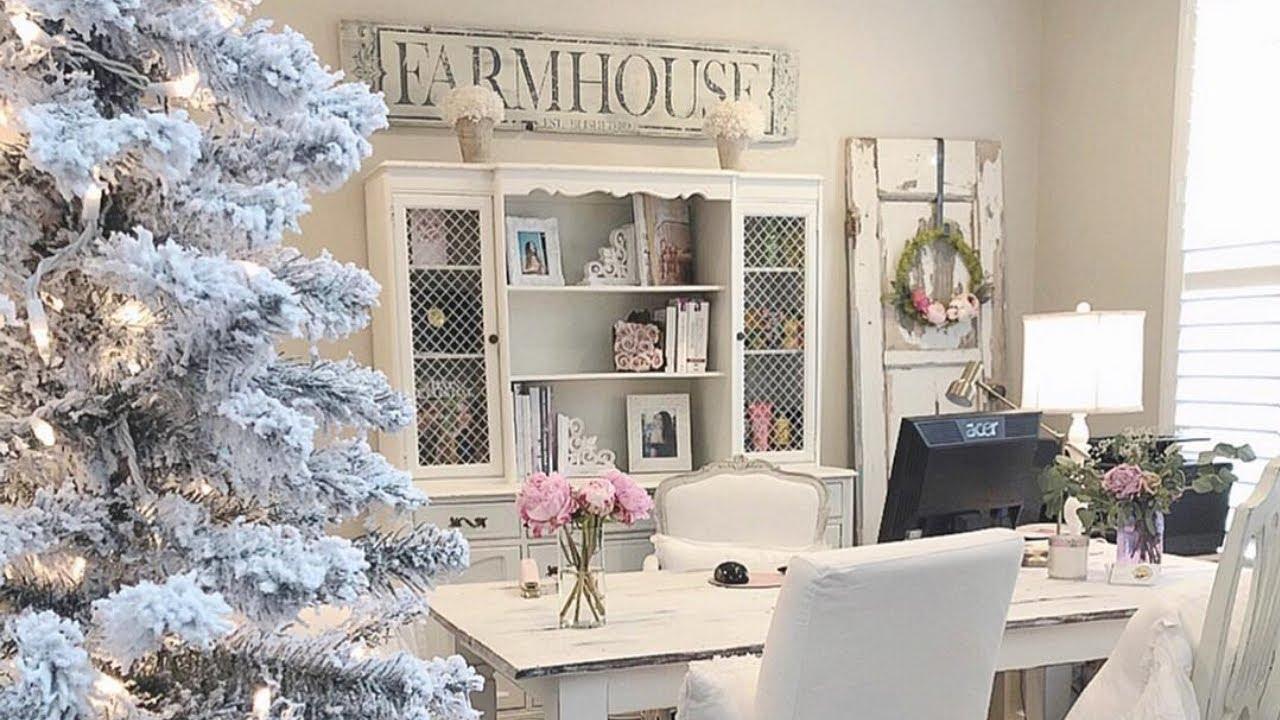 Charming Shabby Chic Christmas home tour