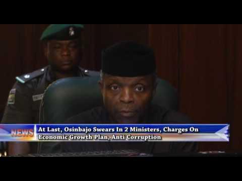 At last, Osinbajo swears-in two ministers