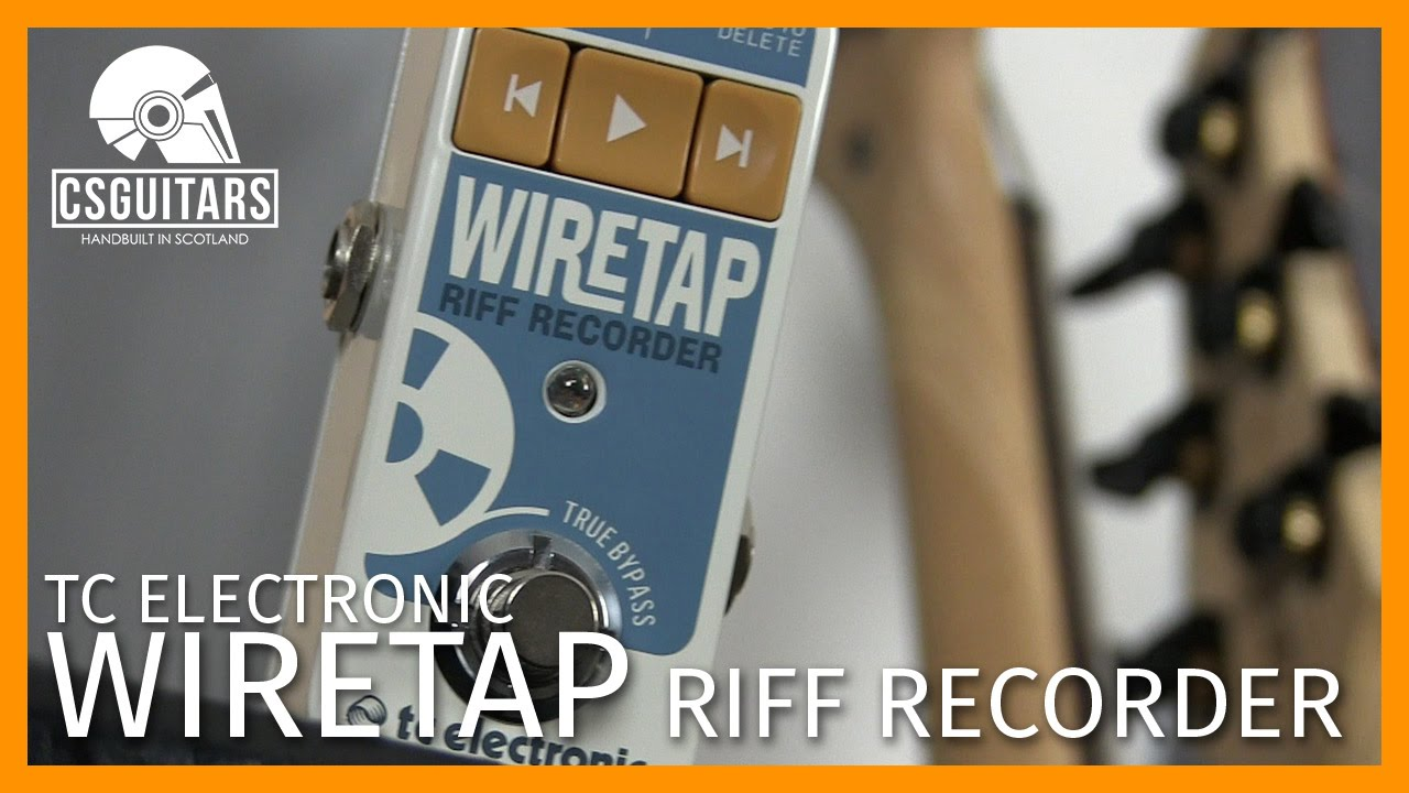 Wiretap Riff Recorder Tc Electronic Youtube Epiphone Les Paul Wiring Schematics With Wiretapping For