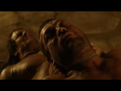 Crixus Saves Spartacus' Life