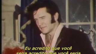 Elvis Presley-Walk a mile in my shoes legenda Portugues
