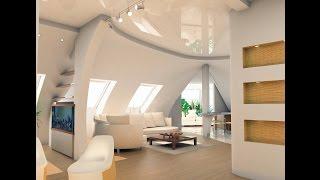 Натяжные потолки на мансарде, компания «Строй Сервис»