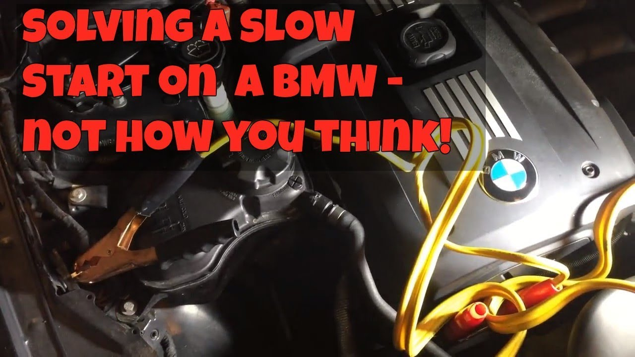 Solving a Slow Start on a BMW - it wasn't the starter or battery!