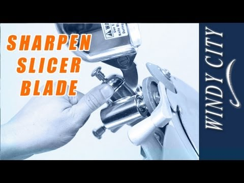 How To Sharpen Slicer Blade Tutorial DIY Windy City Restaurant Equipment Parts
