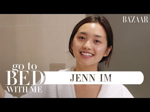 Jenn Im's Nighttime Skincare Routine  Go To Bed With Me  Harper's BAZAAR
