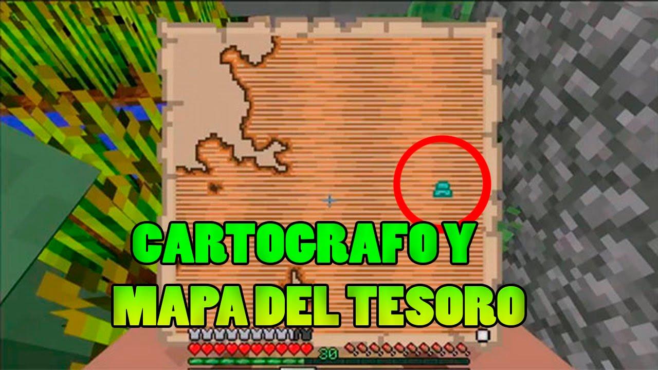 Mapa Del Tesoro Minecraft.Minecraft Pc 1 11 Actualizacion Cartografos Y Mapas Del Tesoro
