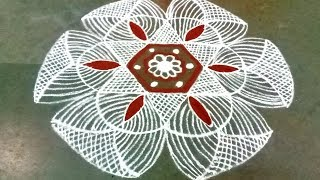 Saraswathi pooja special   Star padi kolam   5*3 dots  Pandaga Muggulu   Easy padi kolam