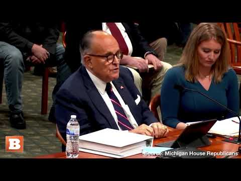 """Rudy Giuliani to Michigan Legislators: You Know How You End Voter Fraud? """"You Put Criminals in"""