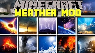 Minecraft WEATHER MOD l REALISTIC METEORS, VOLCANO, TORNADO, & EARTHQUAKES! l Modded Mini-Game